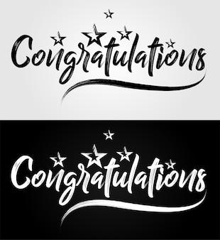 Felicitaciones en letras caligráficas