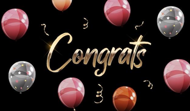 Felicitaciones letras con globos