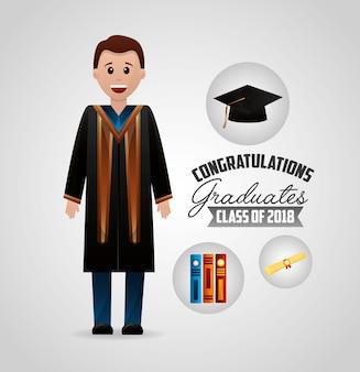 Felicitaciones tarjeta de graduación