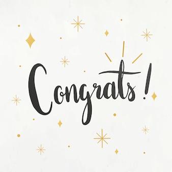 Felicitaciones tarjeta de felicitación
