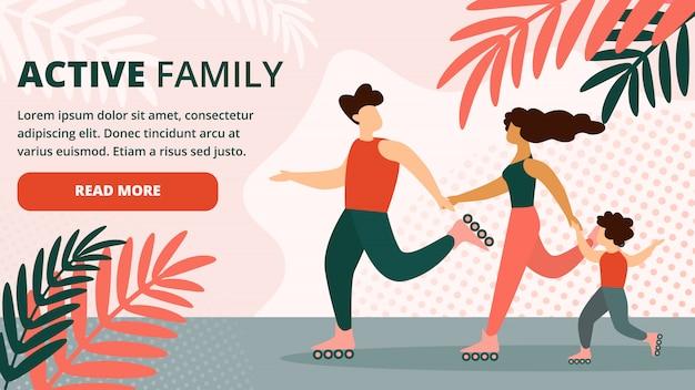 Feliz activo familia saludable al aire libre estilo de vida