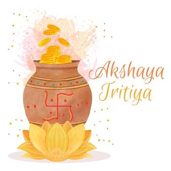 Feliz akshaya tritiya flor de loto