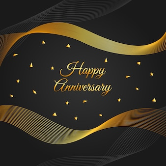 Feliz aniversario de fondo de oro