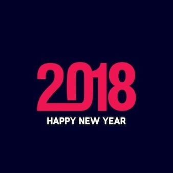 Feliz año nuevo 2018 diseño de texto