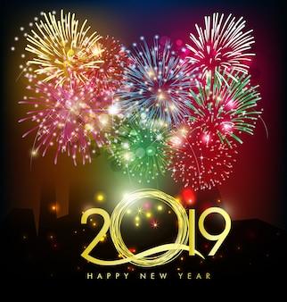 Feliz año nuevo 2019. año nuevo chino, año del cerdo