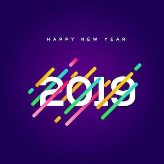 Feliz año nuevo 2019 diseño de cartel