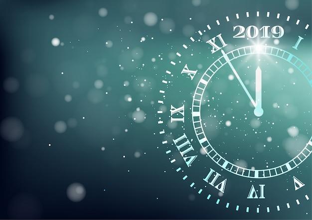Feliz año nuevo 2019 fondo. cuenta regresiva