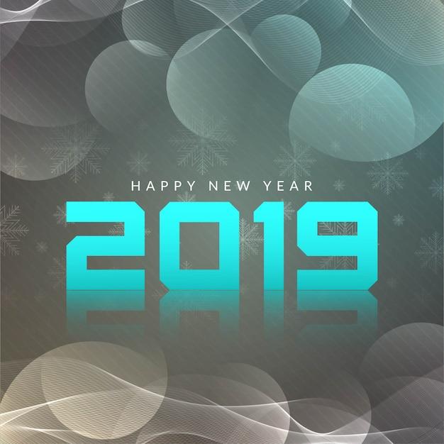 Feliz año nuevo 2019 fondo moderno vector