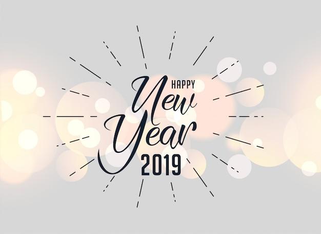 Feliz año nuevo 2019 fondo saludo de vacaciones