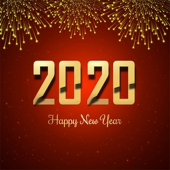 Feliz año nuevo 2019 oro brillante