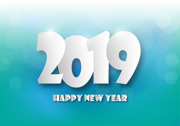 Feliz año nuevo 2019. tarjeta de saludos. diseño colorido ilustracion vectorial