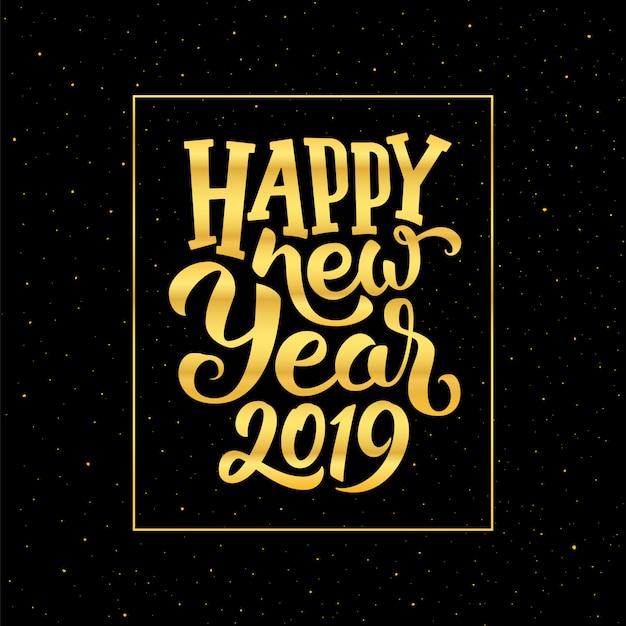Feliz año nuevo 2019 vector diseño de tarjeta de felicitación