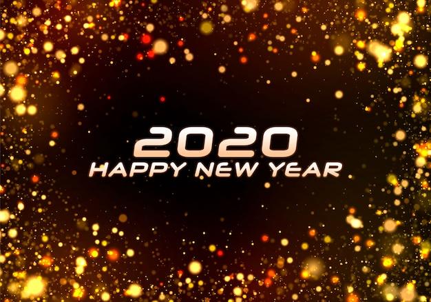 Feliz año nuevo 2020. bokeh sparkle christmas.