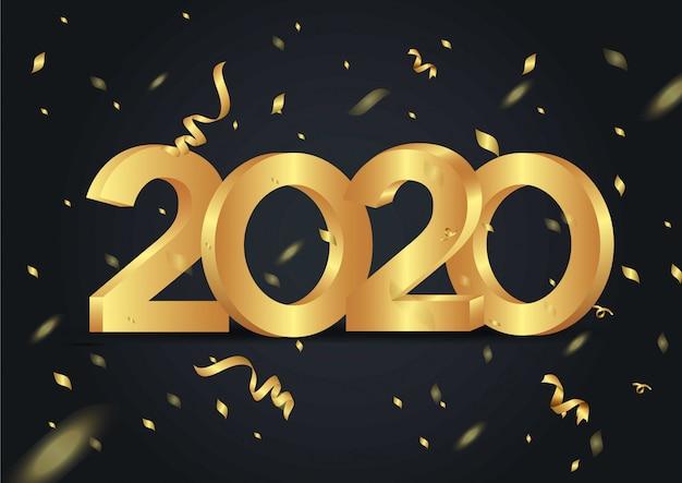 Feliz año nuevo 2020 brillante