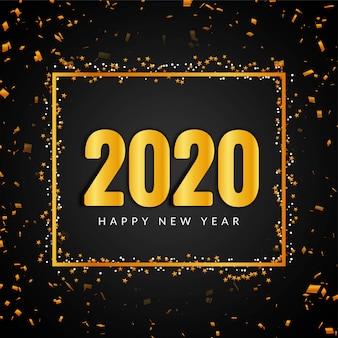 Feliz año nuevo 2020 confeti