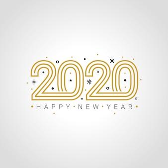 Feliz año nuevo 2020 elegante tarjeta de felicitación