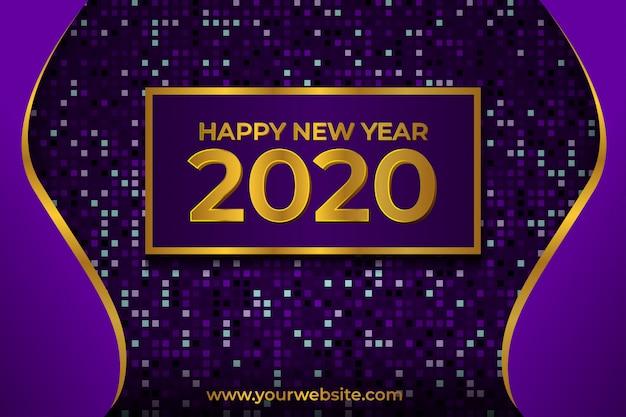 Feliz año nuevo 2020 fondo abstracto de lujo