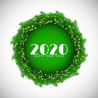 Feliz año nuevo 2020 fondo decorativo