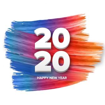 Feliz año nuevo 2020 fondo