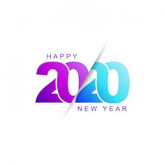 Feliz año nuevo 2020 icono moderno