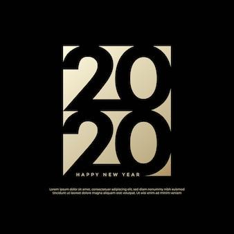 Feliz año nuevo 2020 logo text