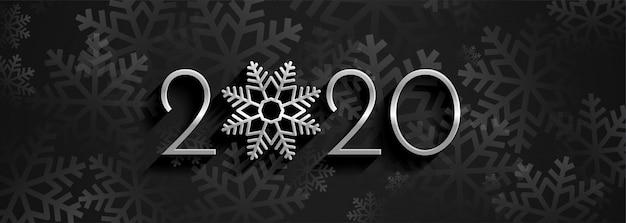 Feliz año nuevo 2020 pancarta panorámica