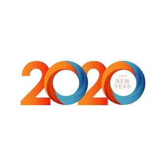 Feliz año nuevo 2020 plantilla