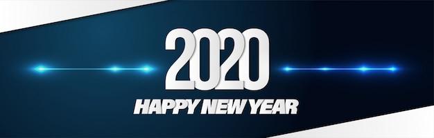 Feliz año nuevo 2020 poster banner fondo para publicidad.