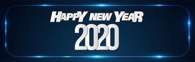 Feliz año nuevo 2020 promoción ventas banner fondo