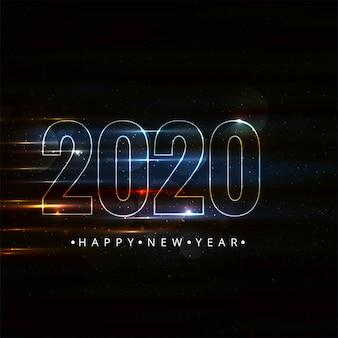 Feliz año nuevo 2020 tarjeta de celebración