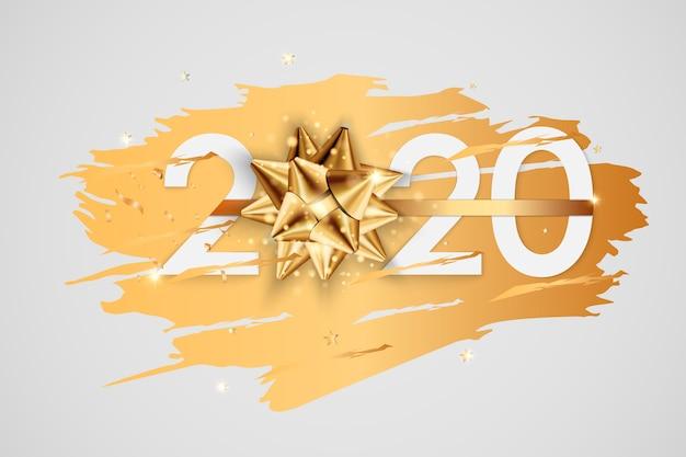 Feliz año nuevo 2020 tarjeta de felicitación de vacaciones de invierno