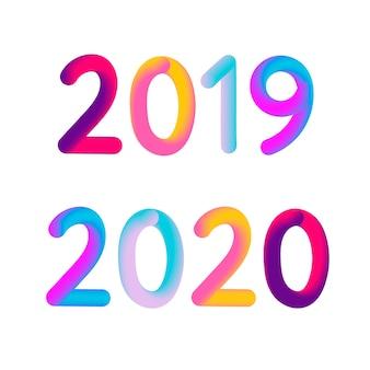 Feliz año nuevo 2020 texto.