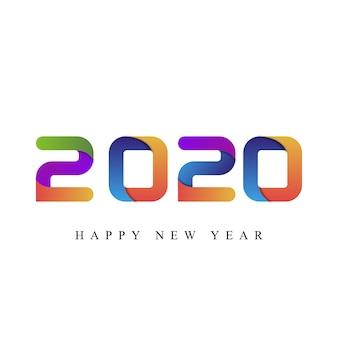Feliz año nuevo 2020 tipografía