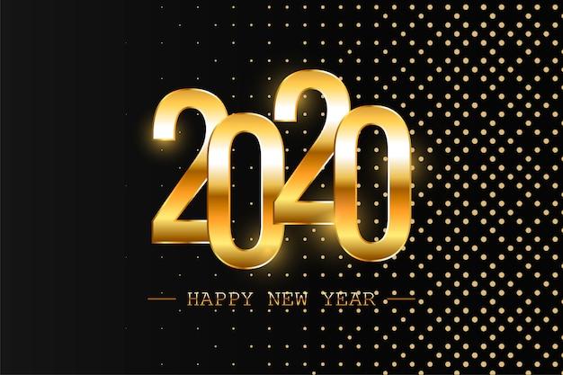 Feliz año nuevo 2020 vacaciones vector ilustración. composición brillante con destellos. eps10