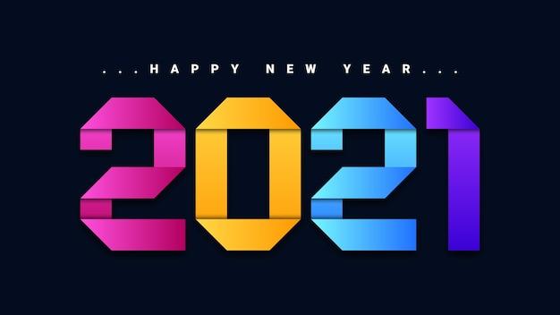 Feliz año nuevo 2021 colores de fondo