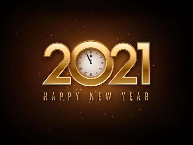 Feliz año nuevo 2021 diseño