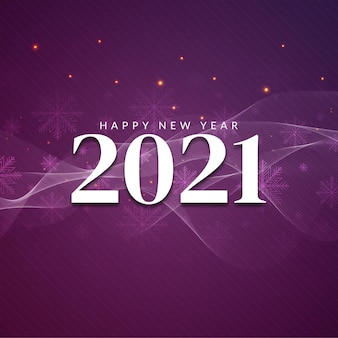 Feliz año nuevo 2021 fondo de saludo decorativo