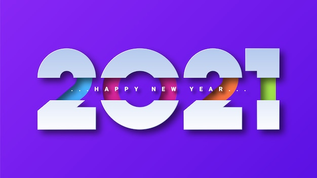Feliz año nuevo 2021 fondo de tarjeta de felicitación