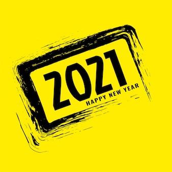 Feliz año nuevo 2021 fondo de trazo grunge