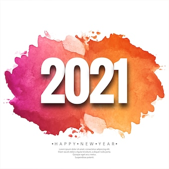 Feliz año nuevo 2021 hermosa tarjeta de celebración