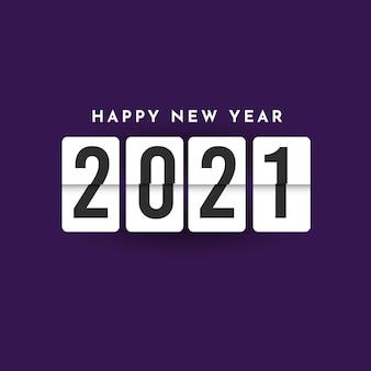 Feliz año nuevo 2021 plantilla. diseño para diseño de calendario, banner o impresión.