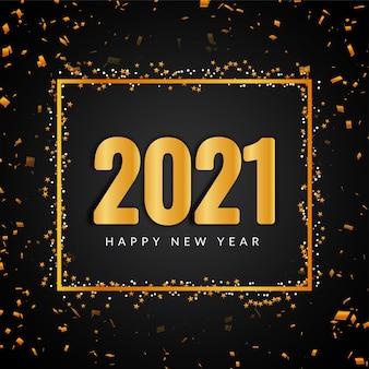 Feliz año nuevo 2021 texto dorado