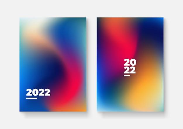 Feliz año nuevo 2022 diseño de portada patter, ilustración vectorial. informe anual 2022, futuro, negocios, diseño de plantilla, libro de portada. ilustración vectorial, presentación de fondo plano abstracto