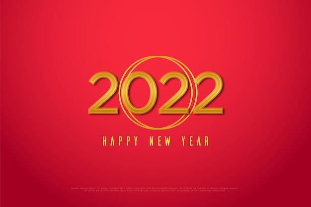 Feliz año nuevo 2022 con números iguales
