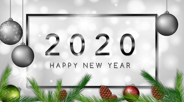 Feliz año nuevo banner 2020