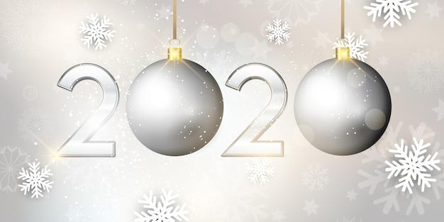 Feliz año nuevo banner de adorno