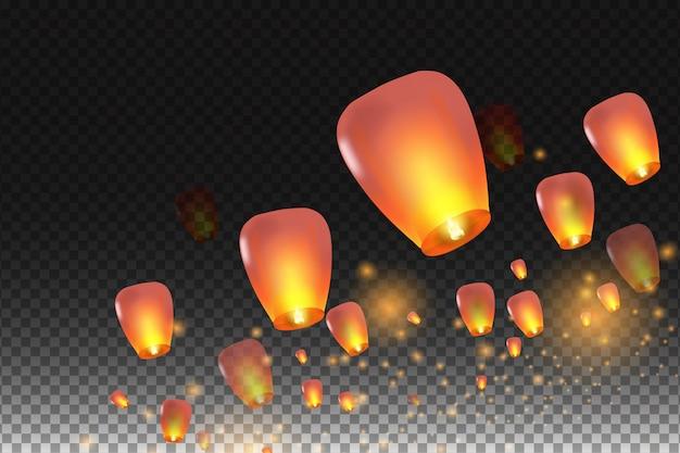 Feliz año nuevo chino. linternas chinas. ilustración para tarjeta, póster, invitación.