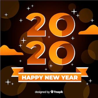 Feliz año nuevo concepto en diseño plano