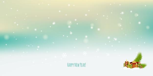 Feliz año nuevo. día del boxeo o feliz navidad y feliz año nuevo