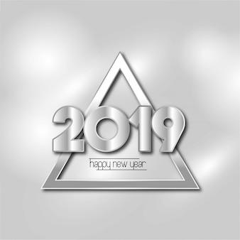 Feliz año nuevo diseño 2019 con fondo blanco